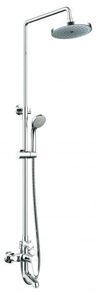 Душевая колонна со смесителем для ванны Bravat Eco