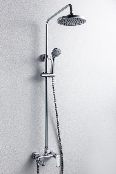 Душевая колонна со смесителем для ванны Bravat Opal R