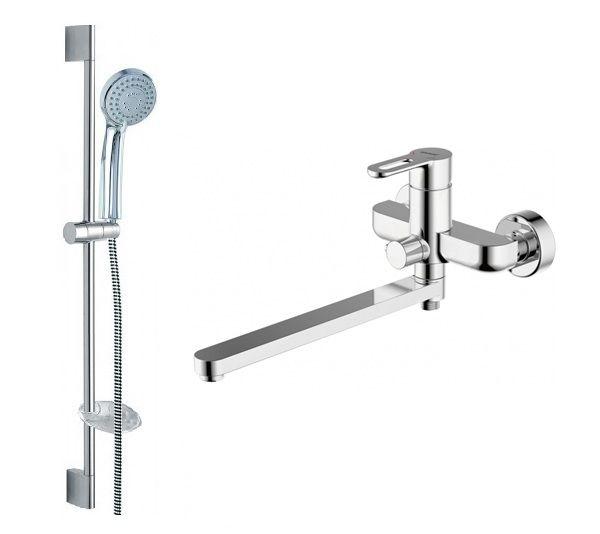 Комплект для ванной комнаты Bravat Stream-D 2 в 1