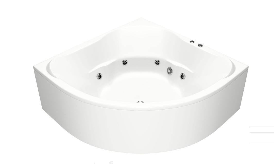 Акриловая ванна BAS  Ривьера 161x161 с гидромассажем