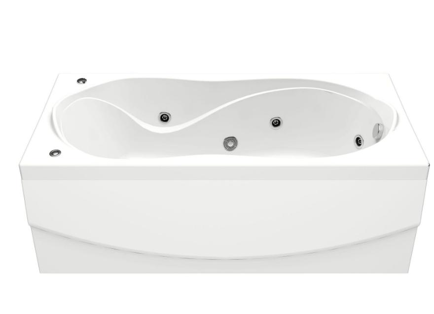 Акриловая ванна BAS Ямайка 180x80 с гидромассажем