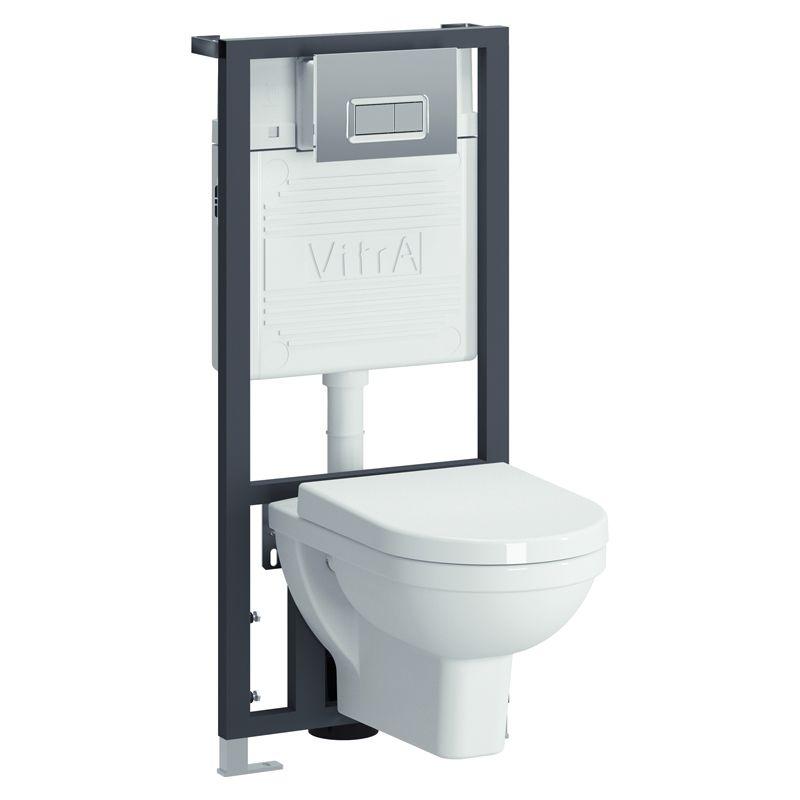 Vitra Form300 9812B003-7203 Инсталляция с унитазом