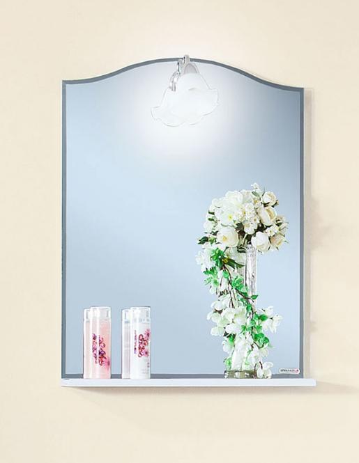 Зеркало Бриклаер Лючия 45 белый глянец