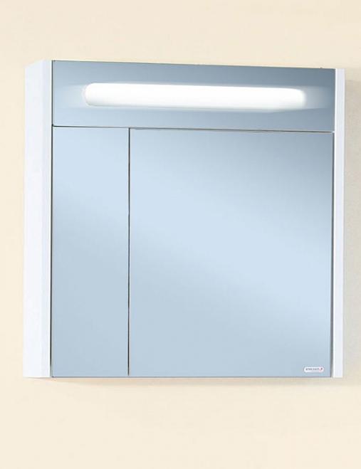 Зеркало-шкаф Бриклаер Палермо 74 белый глянец